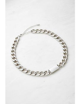 Chunky Tag Choker Necklace by Urban Outfitters