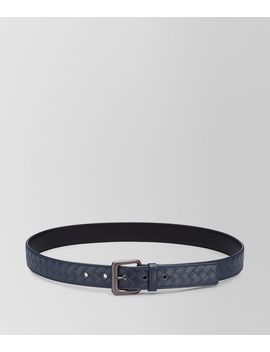 Light Tourmaline Intrecciato Belt by Bottega Veneta