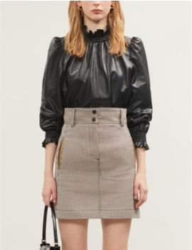 Checked Twill Mini Skirt by Sandro