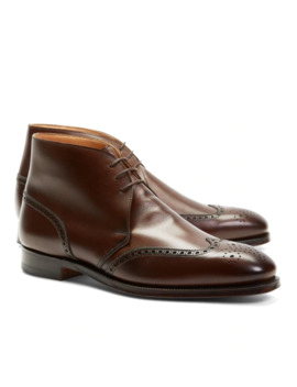 Peal & Co.® Leather Wingtip Boots by Brooks Brothers