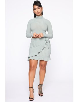 Sweet Treat Sweater Skirt Set   Mint by Fashion Nova