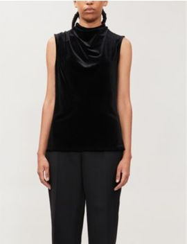 Lola Sleeveless Velvet Top by Reiss