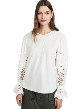 Eyelet Sleeve Blouse by See By Chloe