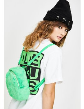 Atomic Gossip Chick Fuzzy Backpack by Dolls Kill