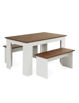 Kendal Dining Table And Two Benches Set by The Range