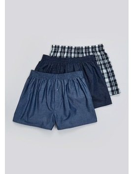 3 Pack Woven Boxers by Matalan