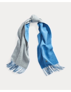 Double Faced Wool Blend Scarf by Ralph Lauren