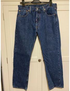 Mens Levi 501 Jeans 34 Waist 30 Leg Dark Blue by Ebay Seller