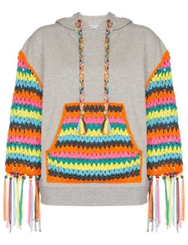 Crochet Panelled Hoodie by Mira Mikati