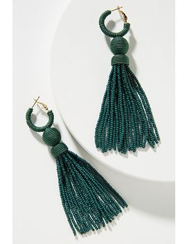Deepa Tassel Huggie Drop Earrings by Deepa