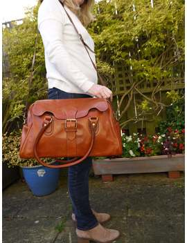 Large Tan Duffle Holdall Bag by Etsy