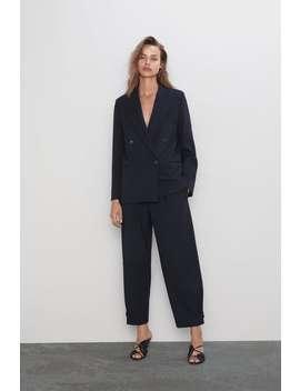 Szerokie Spodnie W Paski by Zara