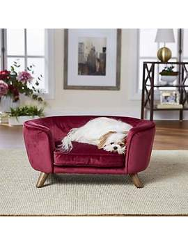 "Enchanted Home Pet Wine Romy Pet Sofa, 26.5"" L X 16"" W X 12"" H Enchanted Home Pet Wine Romy Pet Sofa, 26.5"" L X 16"" W X 12"" H by Enchanted Home Pet"
