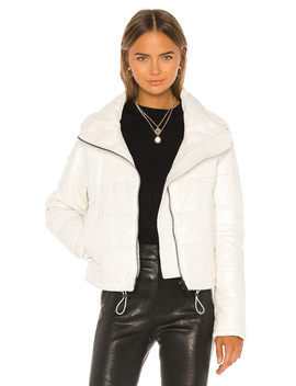 Cay Cropped Leather Puffer Jacket by Lth Jkt