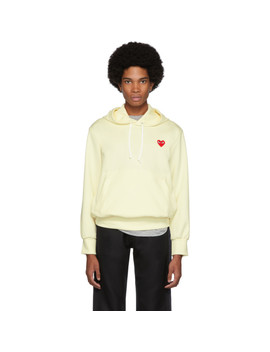Off White Heart Patch Hoodie by Comme Des GarÇons Play
