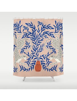 Leopard Vase Shower Curtain by Society6
