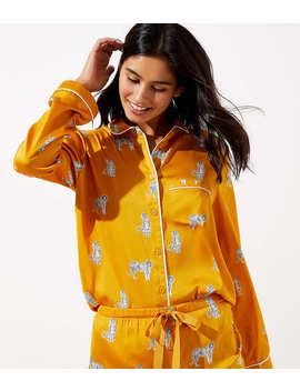 Snow Tiger Pajama Top by Loft