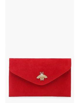 Metal Bug Envelop Clutch Bag by Boohoo