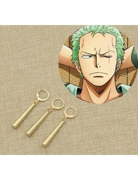 "One Piece Pirate Roronoa Zoro Anime Cosplay 3 Clip On Earrings 2"" Us Seller by Ebay Seller"
