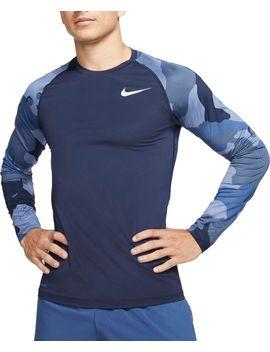 Nike Men's Pro Camo Slim Long Sleeve Shirt by Nike