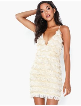 Fringe Mini Dress by Rare London