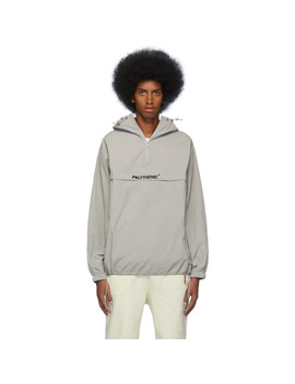 Grey Half Zip Windbreaker by Polythene* Optics