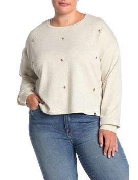 Skull Stud Dolman Sweatshirt (Plus Size) by Circlex