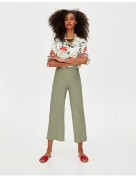 Krep Kumaşlı Culotte Pantolon by Pull & Bear