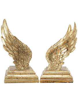 A&B Home Set Of 2 Soar Wing Book Ends by A&B Home