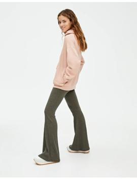 Haki Renk İspanyol Paça Pantolon by Pull & Bear