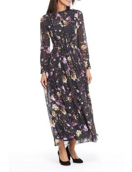 Makela Floral Print Long Sleeve Maxi Dress (Regular & Plus Size) by Gal Meets Glam