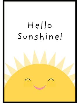 Hello Sunshine Poster by Desenio
