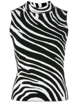 Sleeveless Zebra Top by Versace