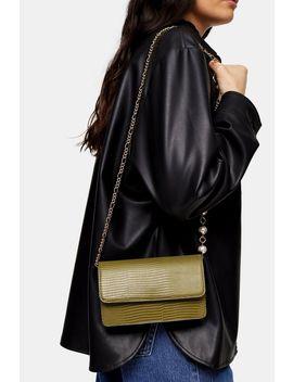Peri Green Pearl Cross Body Bag by Topshop