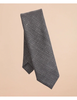 Wool Blend Patterned Textured Tie by Brooks Brothers