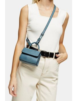 Cindy Blue Lizard Mini Cross Body Bag by Topshop
