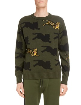 Allover Intarsia Tiger Sweater by Kenzo