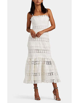 Women's Wayfarer Crocheted Inset Linen Strapless Dress   White by Women's Wayfarer Crocheted Inset Linen Strapless Dress   White