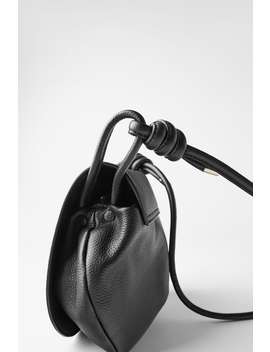 Personalisable Leather Crossbody Bag by Zara