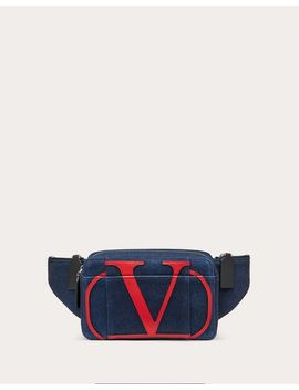 Denim Vlogo Belt Bag by Valentino Garavani