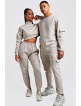 His Cargo Sweater Tracksuit by Boohoo Man