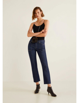Cropped Frayed Jeans by Mango
