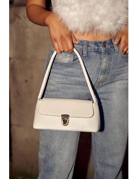 White Croc Clasp Detail Shoulder Bag by I Saw It First