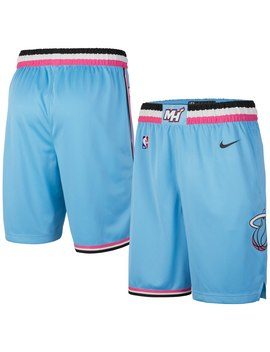 Men's Miami Heat Nike Blue 2019/20 City Edition Swingman Shorts by Nba Store