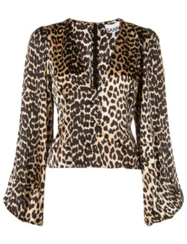 Top Med Leopardtryk by Ganni