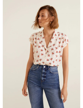 Camp Collar Blouse by Mango