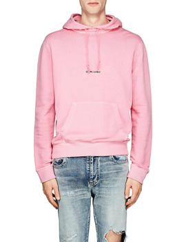 Logo French Terry Hoodie by Saint Laurent