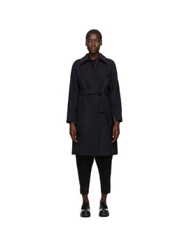 Blue Wool Dolman Sleeve Coat by 3.1 Phillip Lim