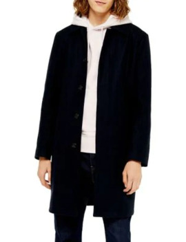 Classic Fit Single Breasted Mac Coat by Topman
