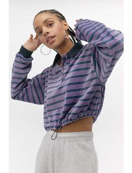 Iets Frans... Velour Stripe Rugby Top by Iets Frans...